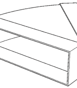 45 deg horizontal bend