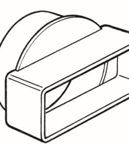 Short Round-Rectangular Adapter