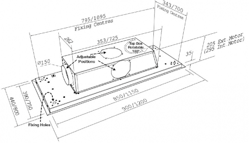 Stratus FLush Technical Drawing